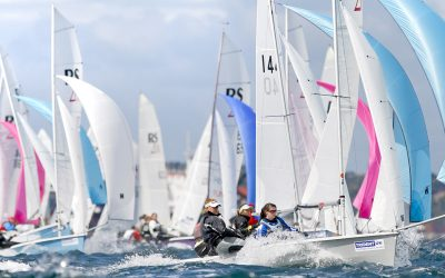 An insight into the competitive nature of the RS200 fleet!
