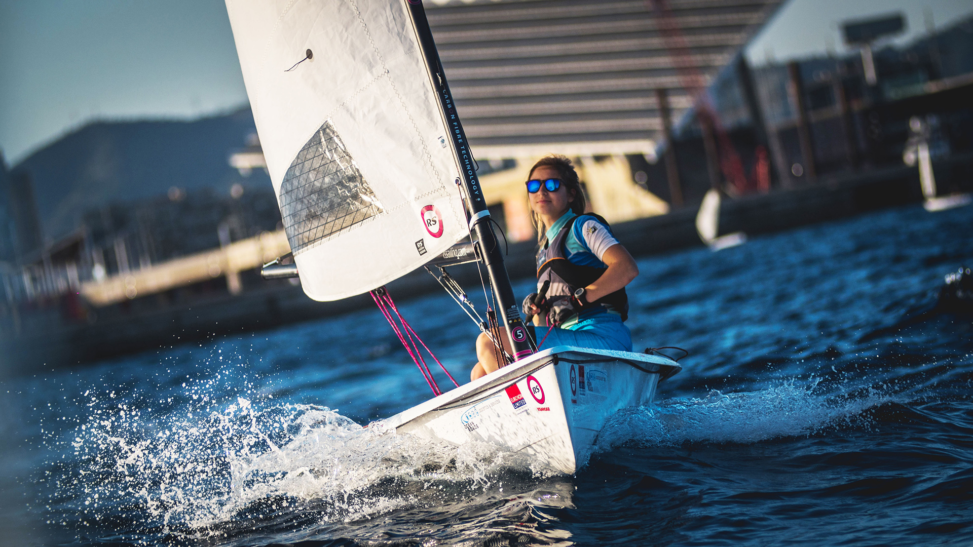 Racing Sailboats - single hander with 3 rig size options  Youth to adult