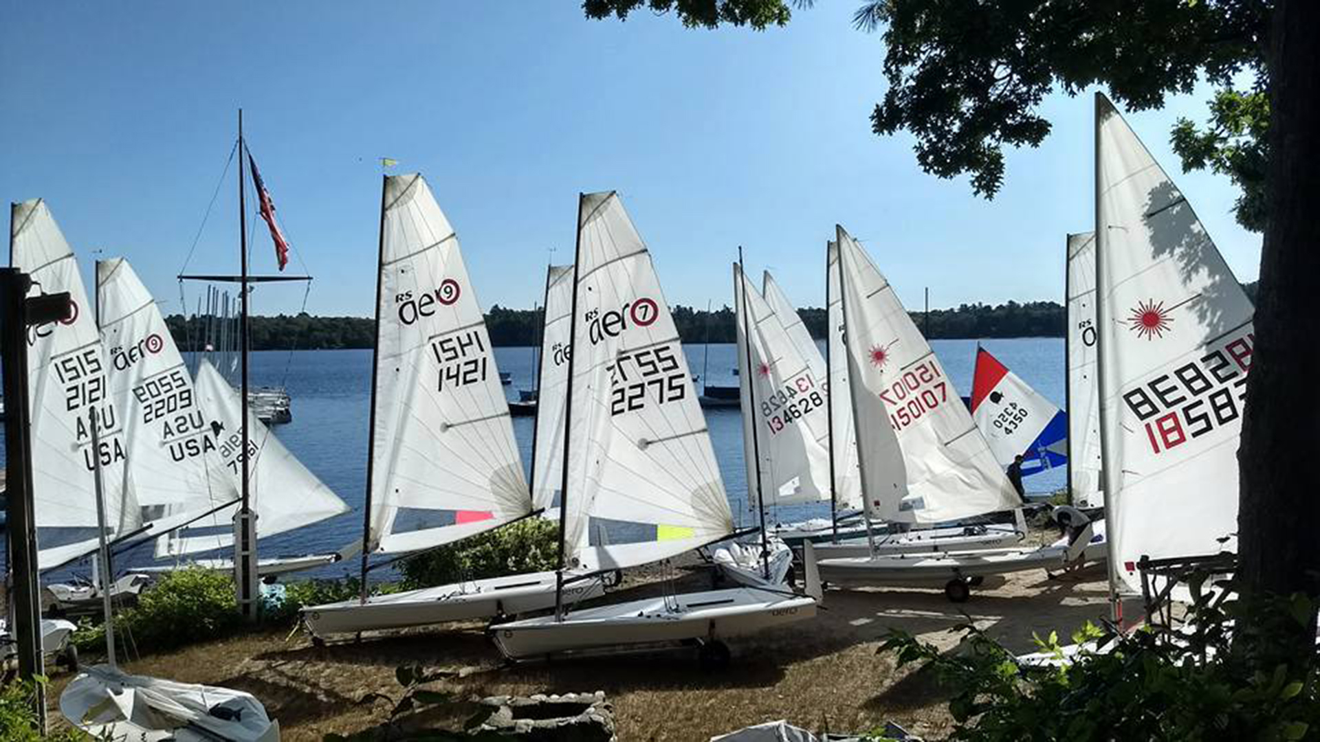 RS Aeros and we sailed ten races – six on Saturday and four on Sunday.