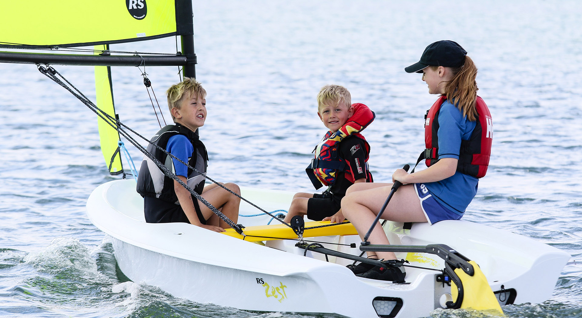 The RS Zest is easy to sail, highly practical for training and gives confidence-inspiring fun for families.