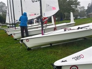 RS Aeros at the Quahog Dinghy Regatta Bristol YC, Rhode Island, USA