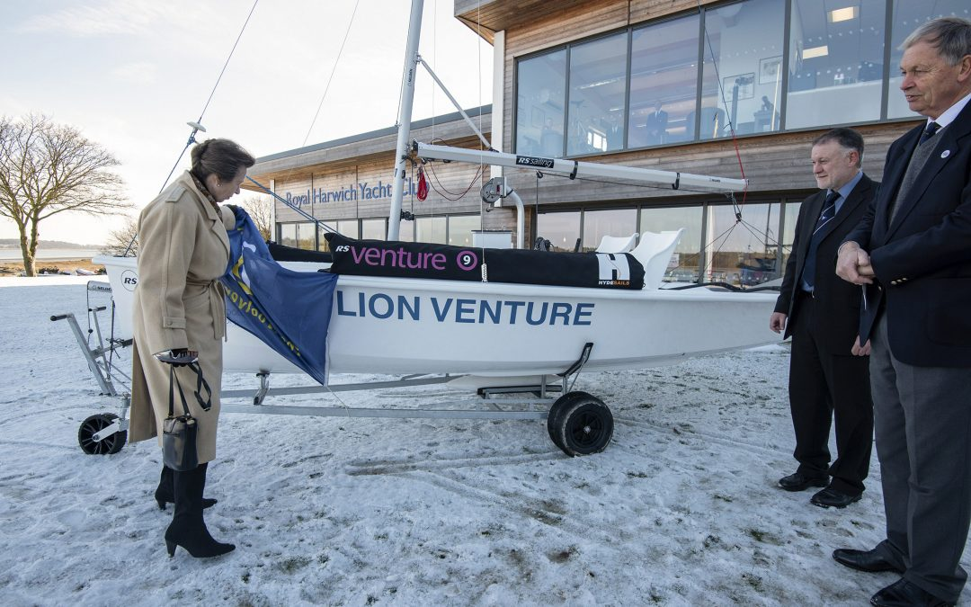 HRH The Princess Royal names 'Lion Venture' at Royal Harwich Yacht Club