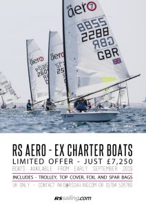 RS Aero Ex-charter boats limited offer *UK Only*