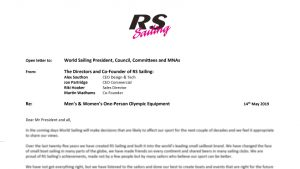 Letter from RS Sailing