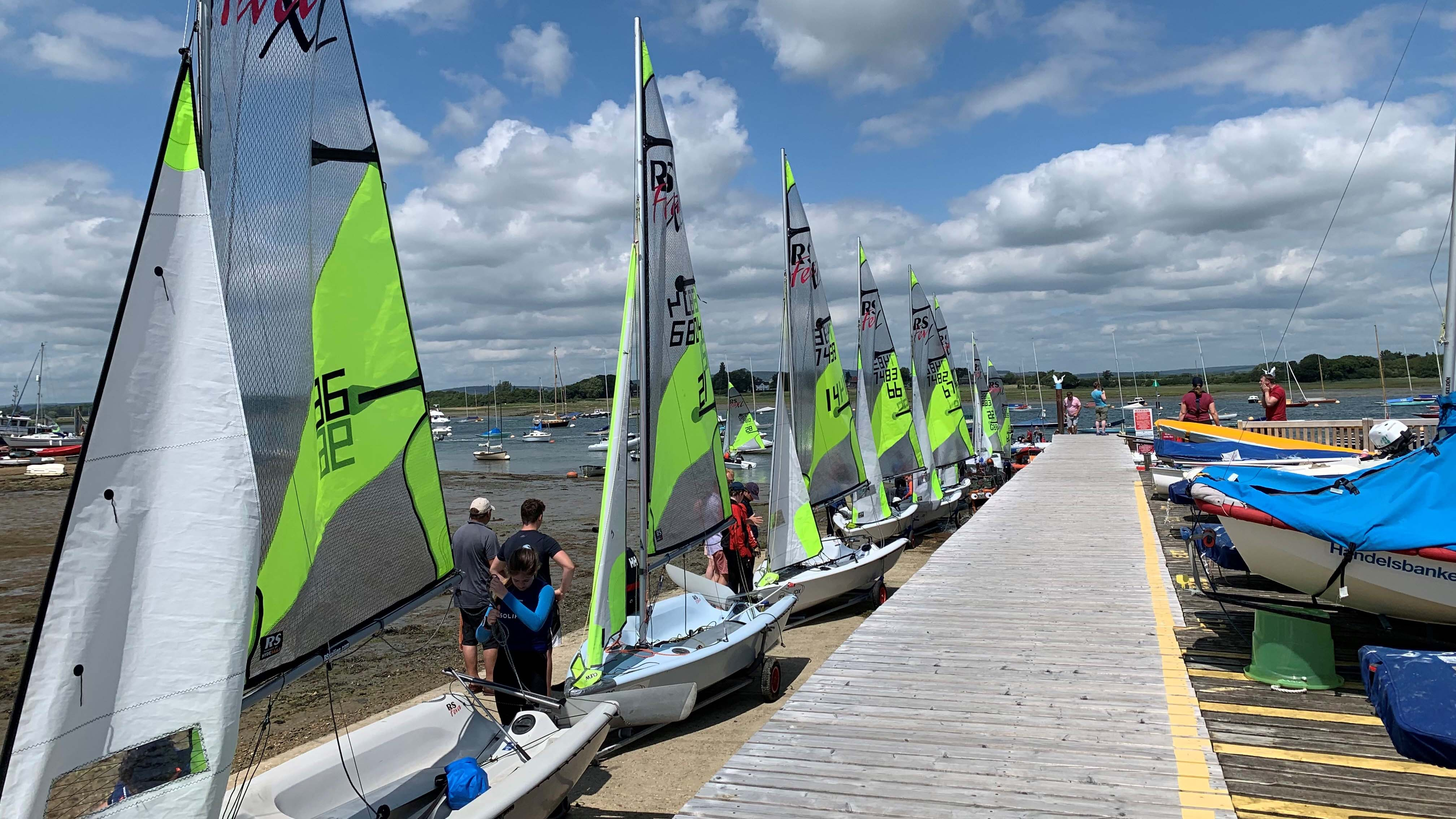 RS Fevers at the 67th Itchenor schools sailing All ready to race