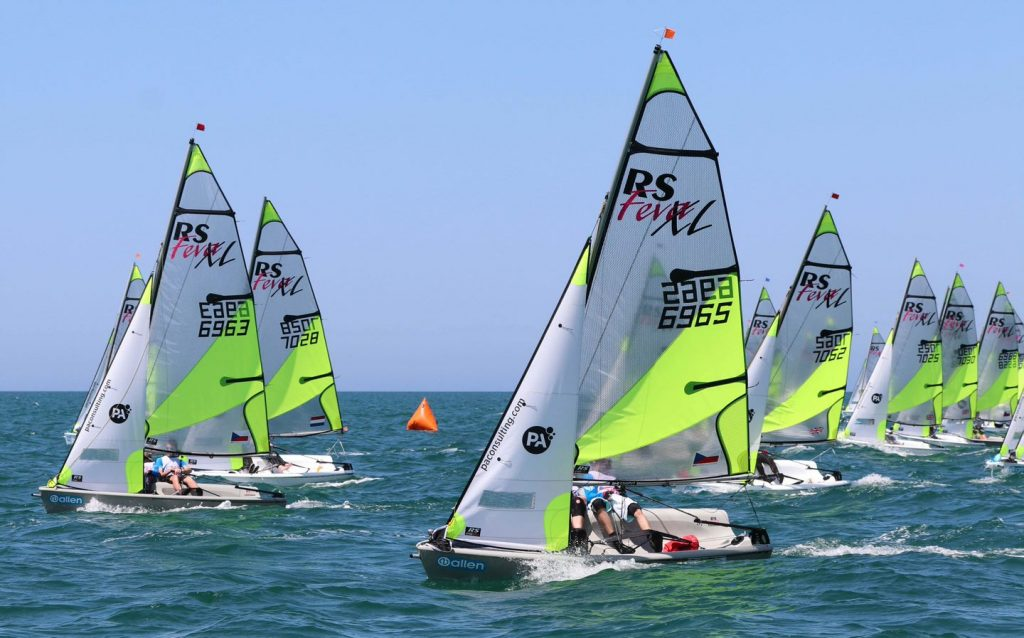 The start of a Feva XL race