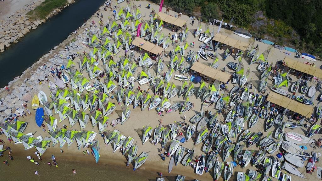200 RS Fevas hit the water at the 2019 RS Feva World Championships!