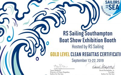 RS Sailing have been awarded the Gold level Clean Regatta certification from Sailors for the sea!