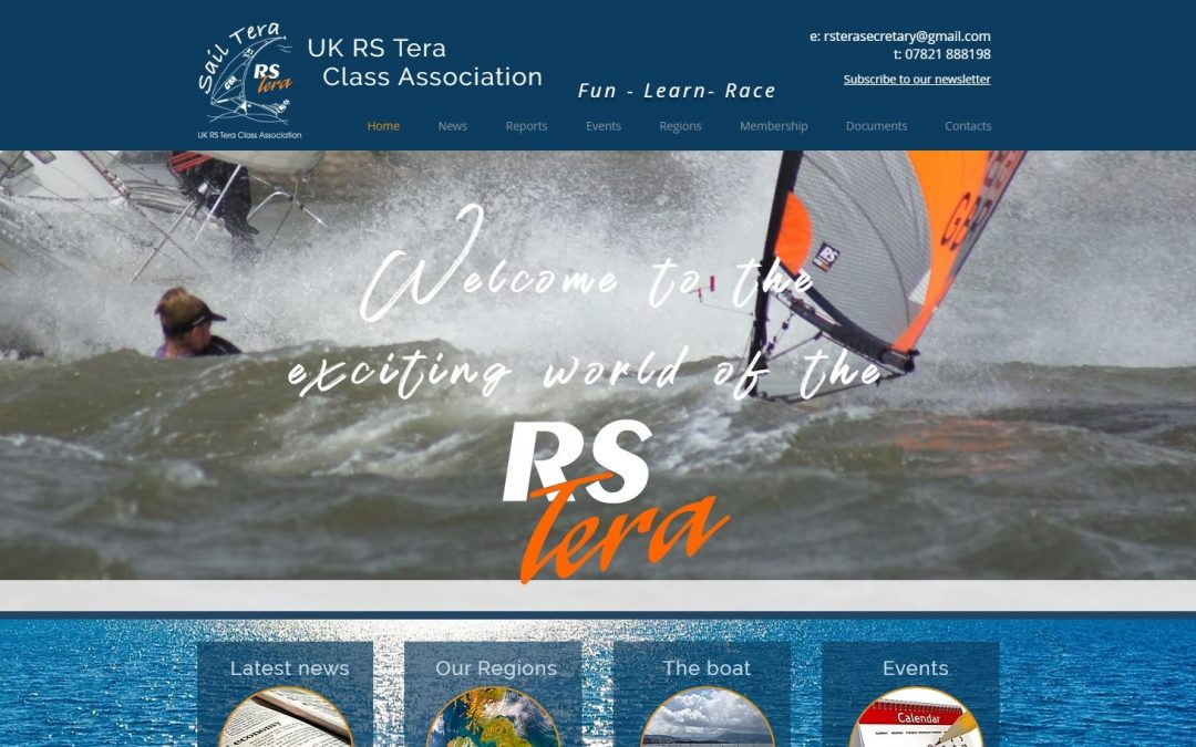 The UK RS Tera Class Association is excited to announce the launch of their new website at www.rstera.org.uk