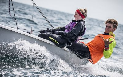Double-handed sailing is back in England for crews from different households!