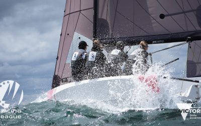 Teams battle big breeze and steep swell at the season opener of the 2021 Sailing Champions League Asia-Pacific