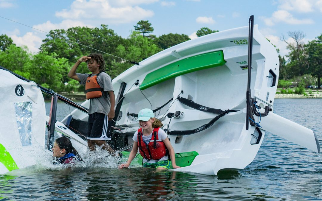 """Courageous Sailing Center's approach to youth sailing is simple – """"Every child's perspective is improved 50 yards offshore"""""""