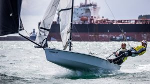 RS500 sailing boat sailing downwind
