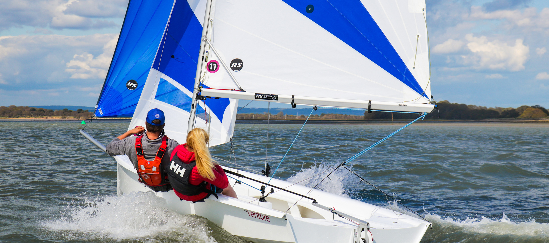 RS Venture Sailing Downwind